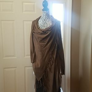 Venus- Brown Fringe Detail Cardigan